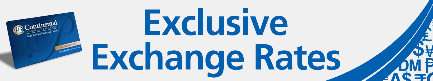 foreign currency exchange privilege savings discount card