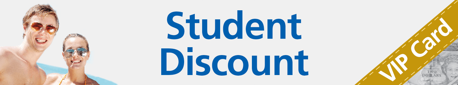 student discount foreign exchange promotional card smiling kids