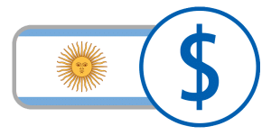 White blue currency flag argentino peso online