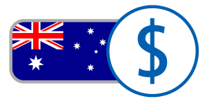 white blue red currency flag Australian dollar online