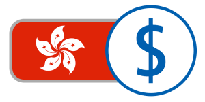 Red white flower pedals stars currency flag china buy hong kong dollars online
