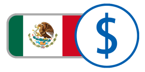buy currency online flag mexico peso $ red green white bird crest