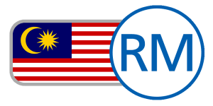 buy currency online flag malaysia ringgit RM moon sun red white blue