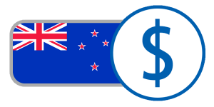 buy currency online flag new zealand dollar $ stars union jack red blue