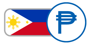 buy currency online flag philippines peso sun star red white blue yellow