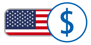 usa dollar red white blue currency online flag
