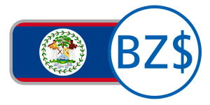buy currency online flag belize dollar red blue white green