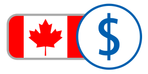 buy currency online flag canada dollar red white maple leaf