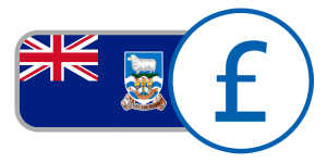 buy currency online flag falkland islands pound union jack blue crest