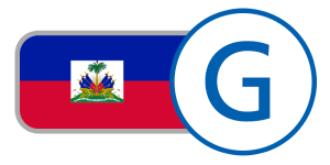 buy currency online flag haiti gourde red blue crest white