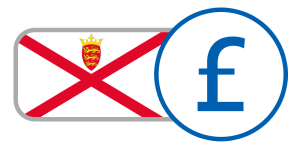 buy currency online flag jersey pound red white cross crest