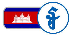 buy currency online flag cambodia riel red blue white temple