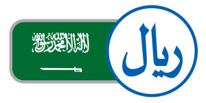 buy currency online flag saudi arabia riyal green white arabic