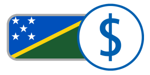 buy currency online flag solomon islands dollar blue yellow green white stars
