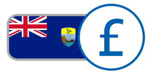 buy currency online flag saint helena pound union jack blue crest