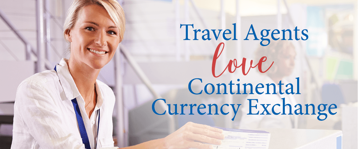 Travel Agents register to receive discounted exchange rates and savings for agents and clients woman smiling happy agent