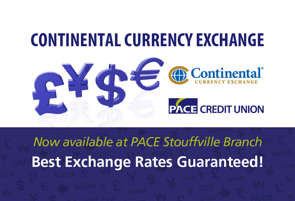 currency exchange in stouffville pace credit union continental