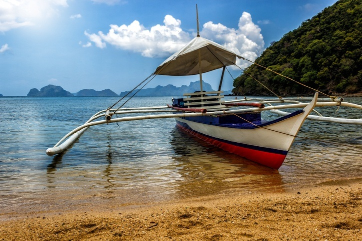 send money to the philippines coast boat beach